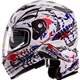 "IV2 ""Blood Scorpion"" Modular Dual Visor Motorcycle / Snowmobile Helmet DOT Approved IV2 Model #953 (X-LARGE)"