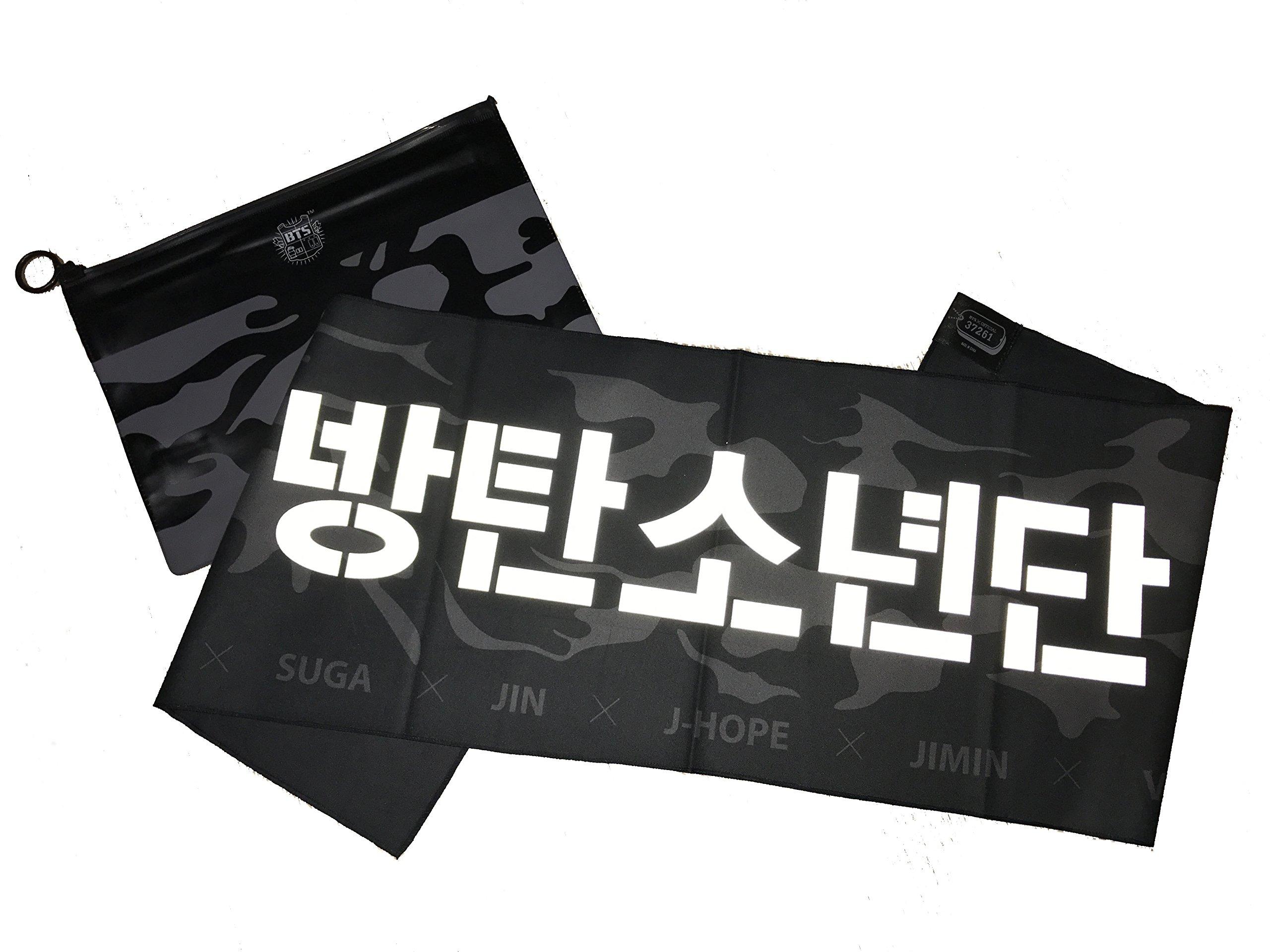 KPOP BTS Bangtan Boys Slogan Cheering Towel With a Pouch