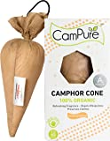 Mangalam CamPure Sandalwood Camphor Cone A+ Technology - Room Freshener, Mosquito - Insect Repellent (Pack Of 4)