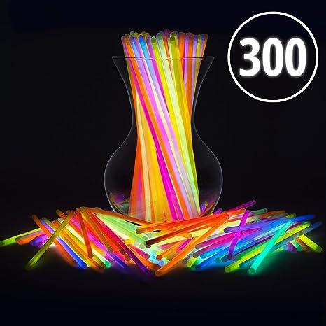 2227e06bab Amazon.com: Glow Sticks Jewelry Bulk Party Favors 300pk - 8
