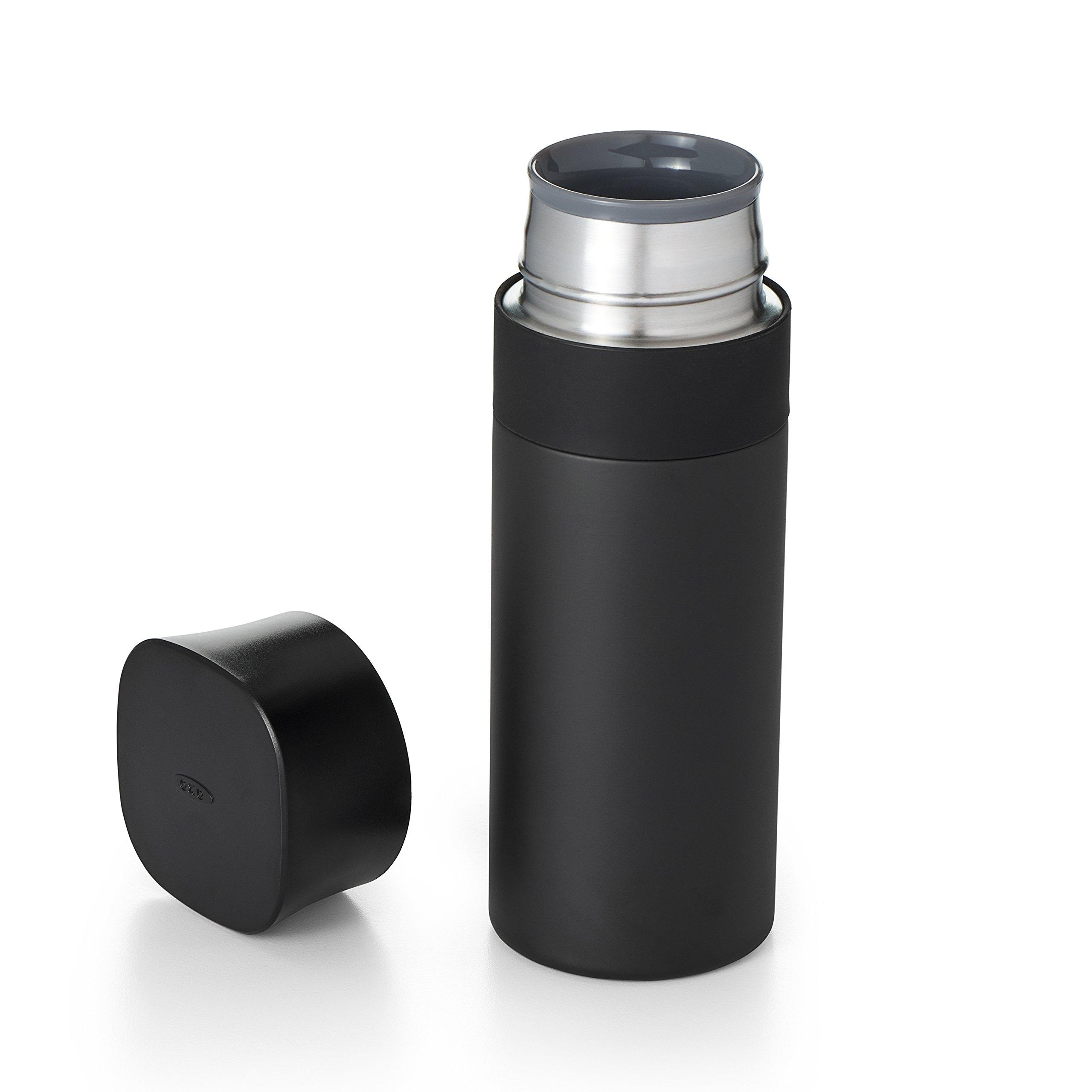 OXO Good Grips Thermal Travel Mug, 12 oz, Black
