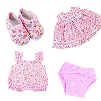 68bf1cd2ba27 Frilly Lily COMPLETE PINK FLOWER CLOTHES SET FOR LUVABELLA DOLL FROM ...