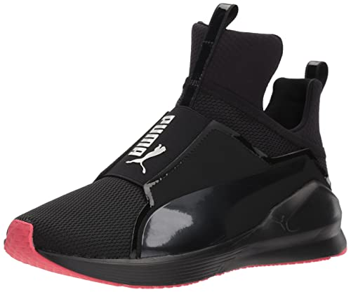 680bca8f1e58 PUMA Unisex Fierce CORE JR Sneaker, Black-Paradise Pink, 4 M US Big