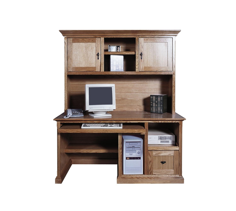 Forest Designs Mission Computer Desk: 60W x 30H x 24D (No Hutch) 60w Whitewash Oak