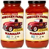 Hoboken Farms Marinara Gourmet Pasta Sauce - Keto Certified, No Sugar Added, Non GMO Project Verified, Kosher, Vegan…