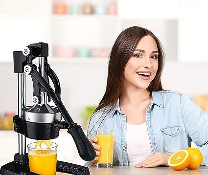 Gourmia GMJ9970 Large Citrus Juicer Commercial Grade Press Orange and Lemon Press Juicing Extracts Maximum Juice Heavy Duty Cast Iron Base and