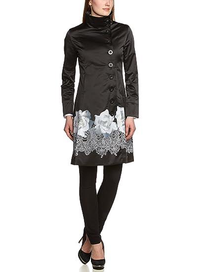Damen schwarz Langmantel Desigual Desigual schwarz Langmantel Desigual Mantel Langmantel Mantel Mantel Damen Damen QrCBoxWEde