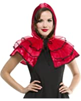 Halloween Woman Red Lace Layered Cape / Capelete