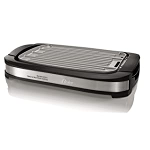 Oster CKSTGR3007-ECO DuraCeramic Reversible Electric Griddle and Grill
