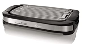 Oster Titanium Infused DuraCeramic Reversible Grill/Griddle, Black (CKSTGR3007-TECO)