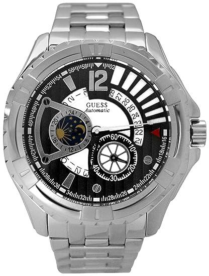 Guess U20003G1 - Reloj para Hombres, Correa de Acero Inoxidable Color Plateado: Guess: Amazon.es: Relojes