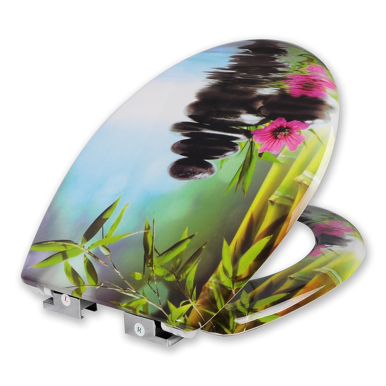 Deco Design Toilettendeckel aus Duroplast mit Abesenkautomatik WOLTU #314 WC Sitz Toilettensitz NEU/&OVP