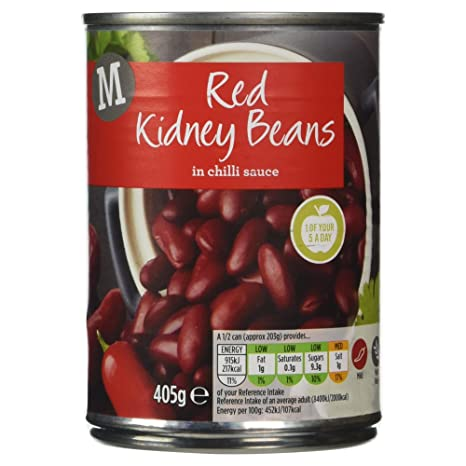 a159a547a Morrisons Red Kidney Beans in Chilli Sauce, 405g: Amazon.co.uk ...