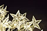 ProductWorks Brilliant Icicle Light Strand Star Cap 100 LED Lights with 8 Function Lighting and Translucent  Cord