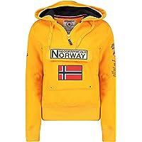 Geographical Norway GYMCLASS Lady - Sudadera para mujer, con capucha y bolsillos canguro, manga larga, informal y cálida…