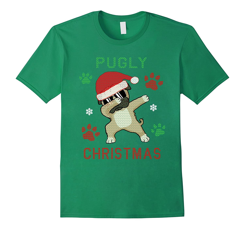 Dabbing Pug Christmas Shirt Ugly Pugly Christmas Sweater Tee-ANZ