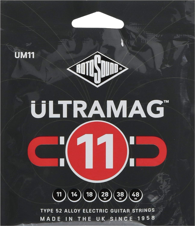 Rotosound UM11 Ultramag - Cuerdas para guitarra eléctrica (11-48)