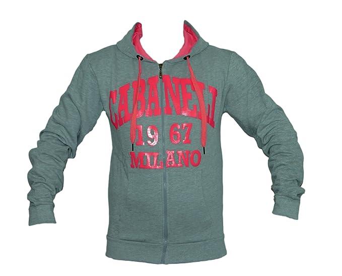 Milano Cabaneli Oldschool College chaqueta sudadera con capucha SW-01 gris/rosa: Amazon.es: Ropa y accesorios