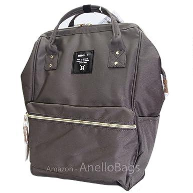 8cc7fc68997b Japan Anello Backpack Unisex LARGE GRAY Rucksack Waterproof Canvas School  Bag Campus