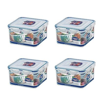 Amazoncom Pack of 4 LOCK LOCK Airtight Square Food Storage
