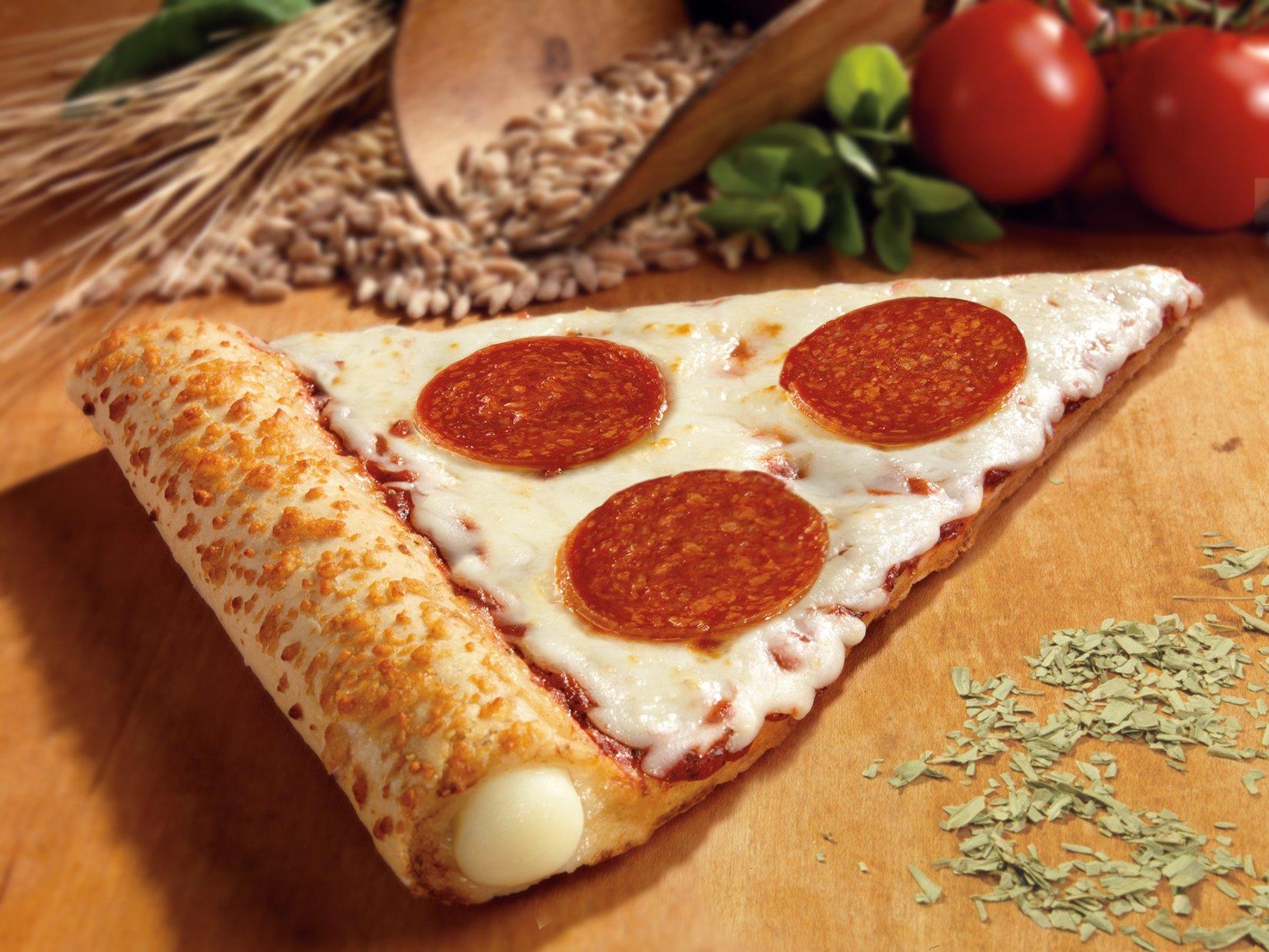 The Max Whole Grain Reduced Fat Stuffed Crust Pepperoni Pizza Slice, 0.304 oz. (72 count)