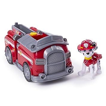 PAW PATROL - Camión de Bomberos Transformador de Marshall con cañones de Agua opacos, para Mayores de 3 años: Amazon.es: Juguetes y juegos