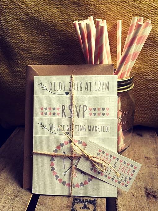 Invito Matrimonio Rustico : Set fotografico per matrimonio rustico inviti con buste
