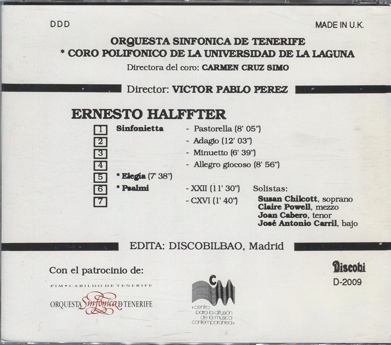 Amazon.com: Ernesto Halffter ~ Sinfonietta, Elegia, Psalmi ...