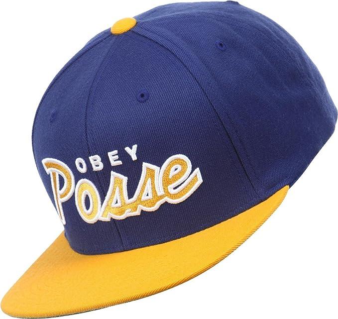 Obey Posse Snapback blau/gold: Amazon.es: Ropa y accesorios