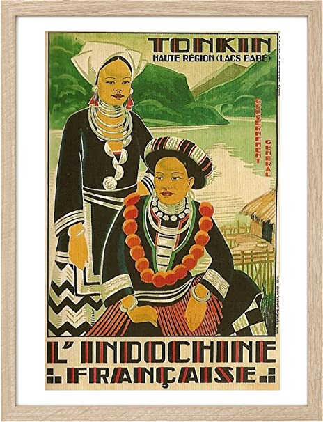 Framed A3 1795 French Indochina I Vintage Travel Posters