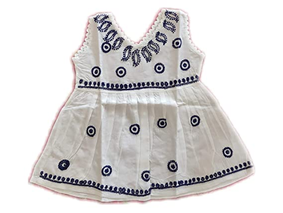 045c96acf7 Amazon.com: Marigold Collections - Girls' Embroidered Cotton Frocks, Light  Dresses, Traditional Indian Motifs: Clothing