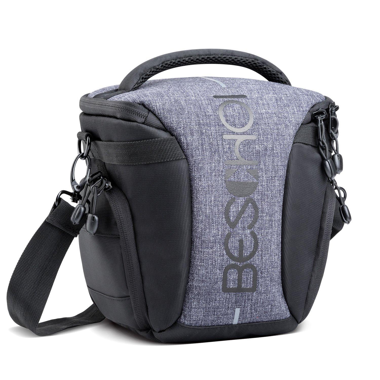Beschoi Camera Shoulder Bag Compact System Camera Case Digital SLR/DSLR Camera Holster Bag for Compact System, Hybrid, Mirrorless, Micro 4/3 Camera