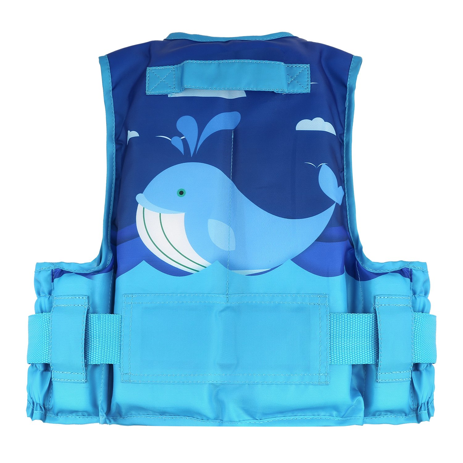Size M Cute Whale Print Suitable for 35-55 lbs Child Size Watersports Swim Vest Flotation Device Size L /& 55-77 lbs HeySplash Life Jacket for Kids