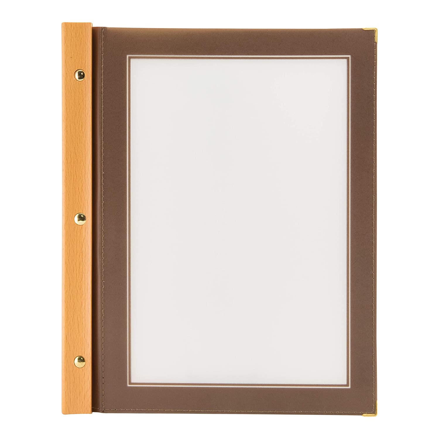 Securit Set da 5 inserti A5 Beige per la linea Wood porta Menu in legno