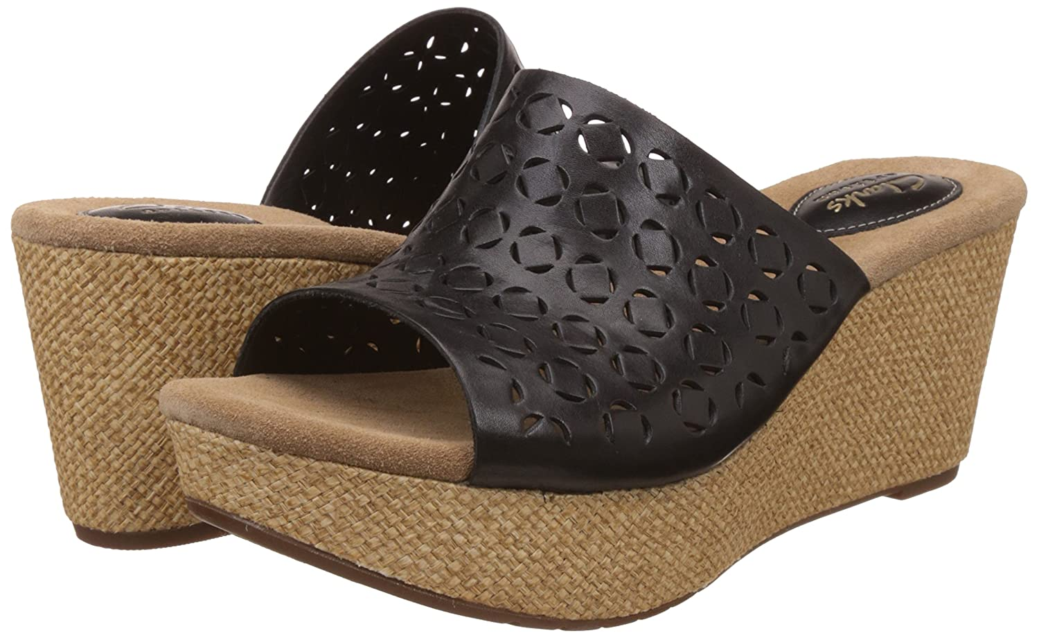78efa40b9bf6 Clarks Women s Caslynn Dylan Black Leather Fashion Sandals - 8 UK India (42  EU)  Buy Online at Low Prices in India - Amazon.in
