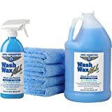 Wet or Waterless Car Wash Wax Kit 144 oz. Aircraft Quality for your Car, RV, Boat, Motorcycle. Guaranteed the Best Wash Wax.