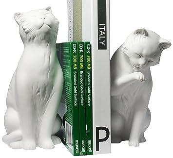Danya B  Cat Bookend Set  White. Amazon com  Danya B  Cat Bookend Set  White  Home   Kitchen