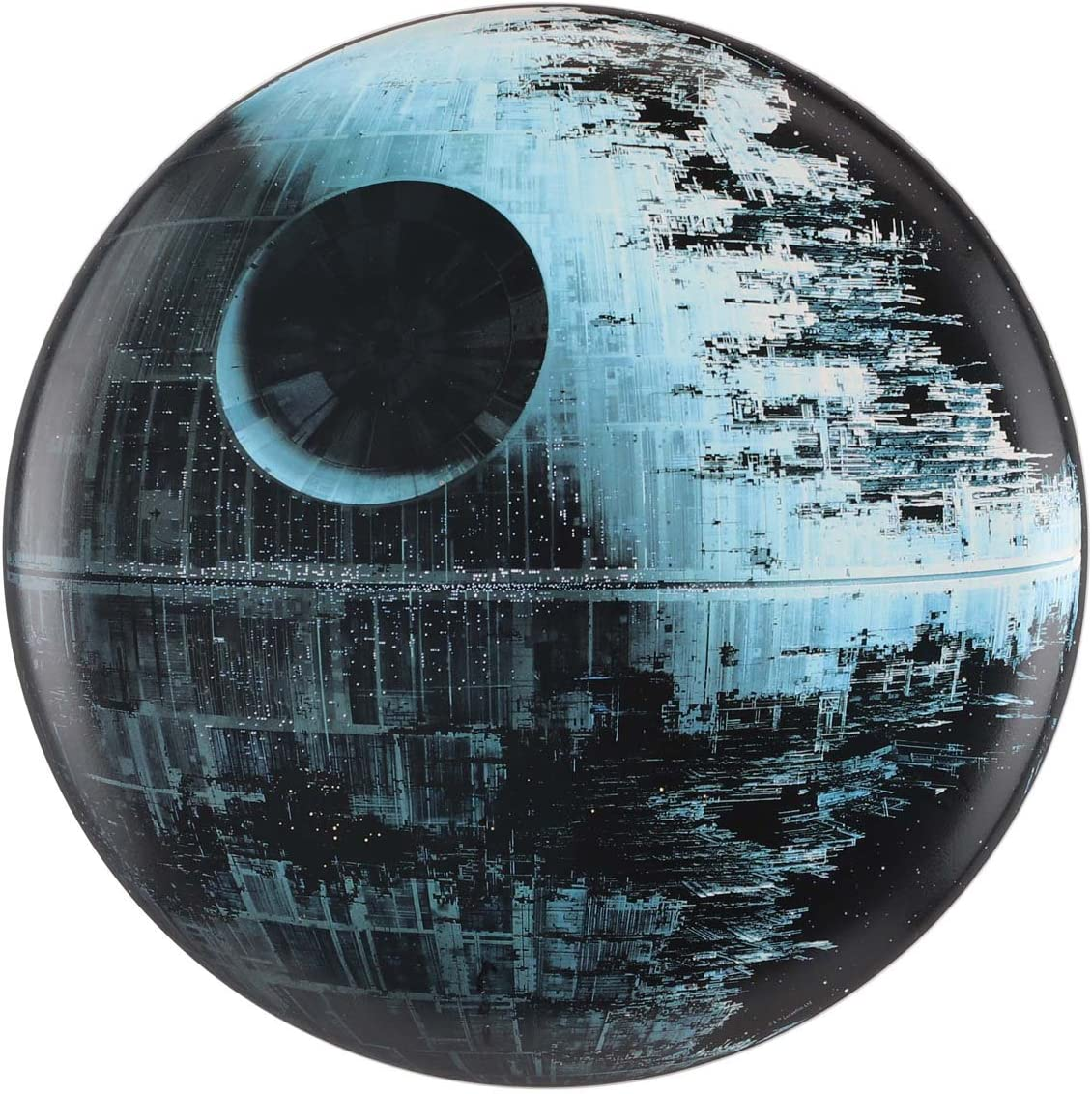 Open Road Brands Star Wars Death Star Metal Button - an Officially Licensed Product Great Addition to Add What You Love to Your Home/Garage Decor