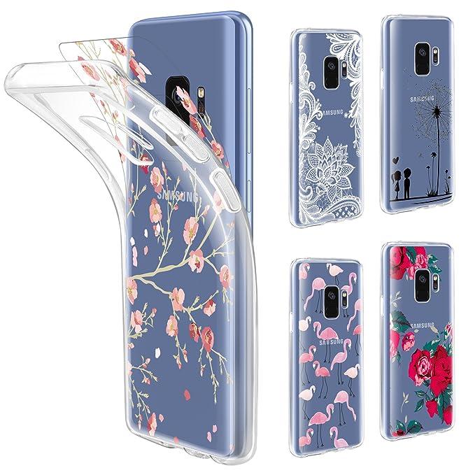 3 opinioni per Custodia Galaxy S9 Cover Trasparente , Leathlux Morbido Silicone TPU Custodie +