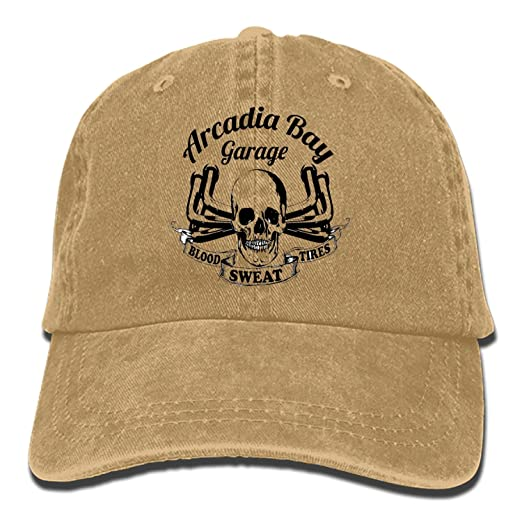 Arcadia Bay Garage Denim Cap Cowboy Hat Polo Style Baseball Cap for Men    Women at Amazon Men s Clothing store  470a0157f47