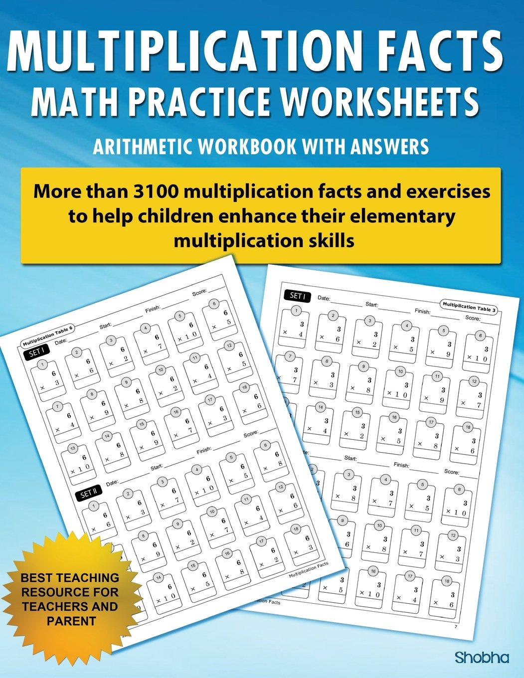 Multiplication Facts Math Worksheet Practice Arithmetic