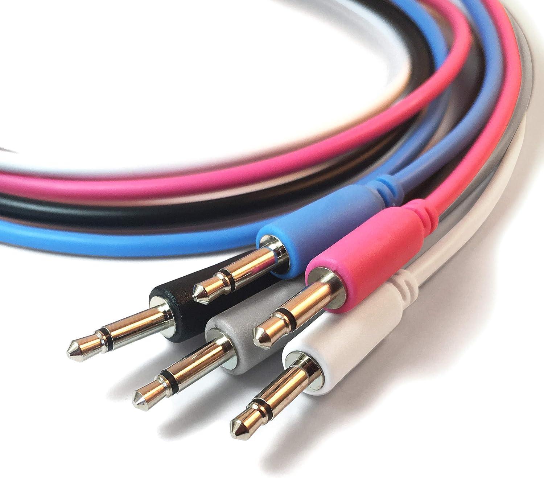 5 longueurs // 7 couleurs disponible lot de 5 Eurorack c/âbles de patch mono mini jack 3,5mm