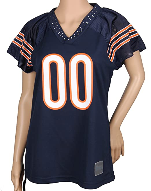 Amazon.com   Chicago Bears NFL Womens Team Field Flirt Fashion Jersey 34dbb5f00