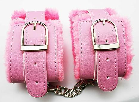 Amazon.com: Chuzhao Wu de piel sintética pink Esposas de ...