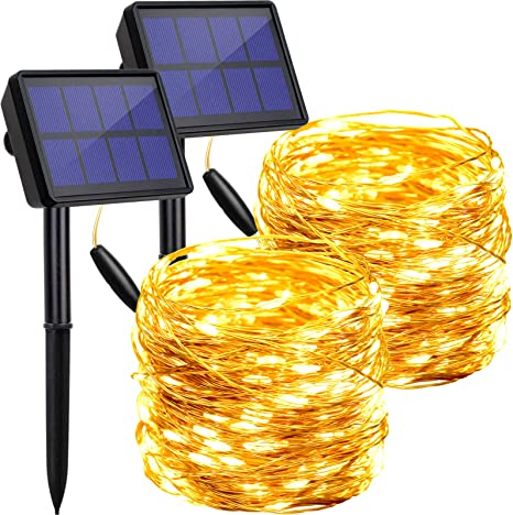 Solar Power 200 LED String Lights Garden Path Yard Decor Lamp Outdoor Waterproof