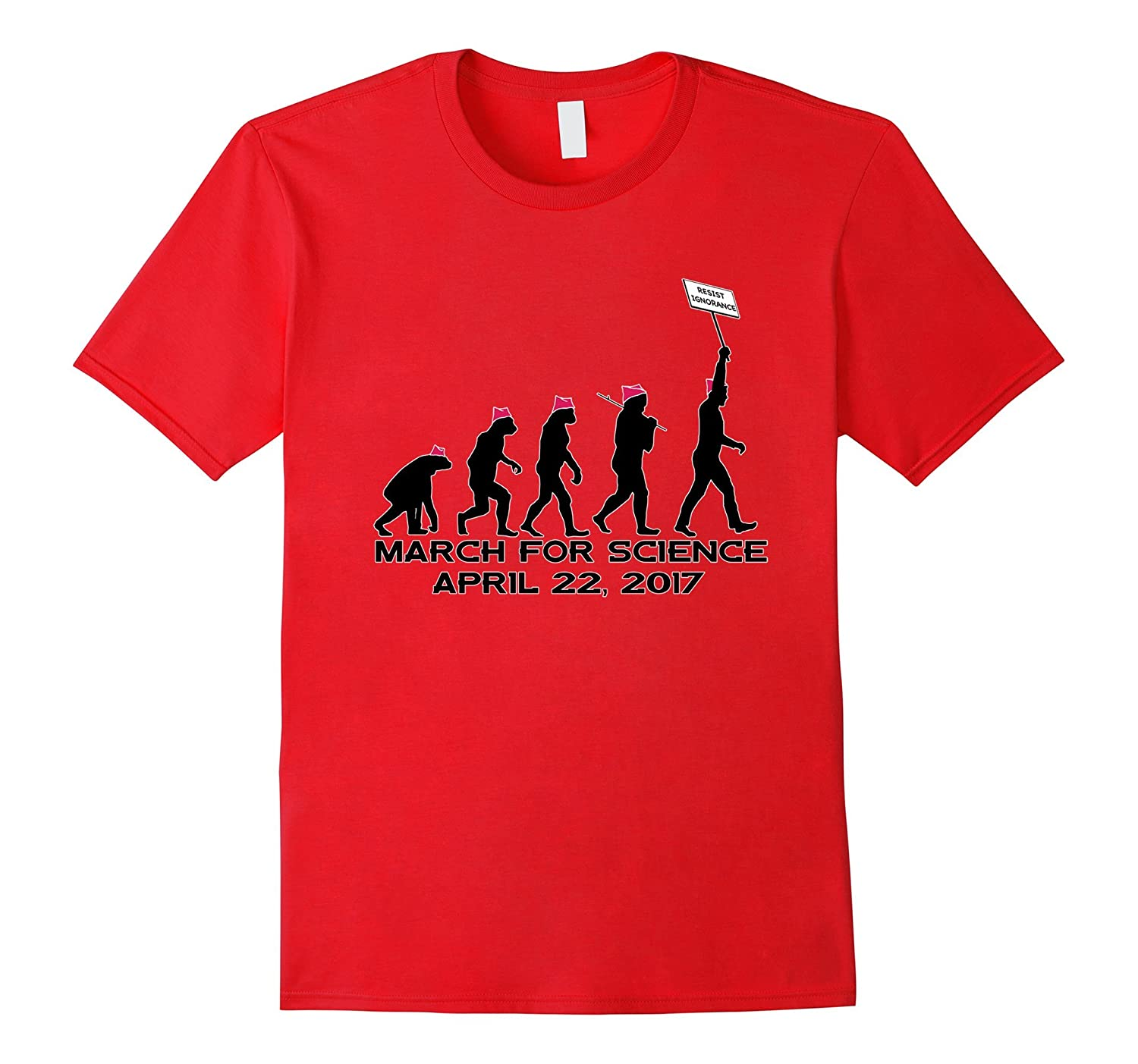 Science Man Evolution T-shirt Climate Change March-CD
