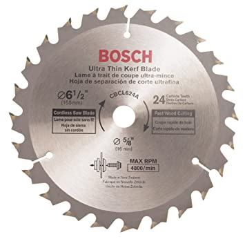 Bosch cbcl624a 6 12 in 24 tooth circular saw blade for cordless bosch cbcl624a 6 12 in 24 tooth circular saw blade for cordless greentooth Image collections
