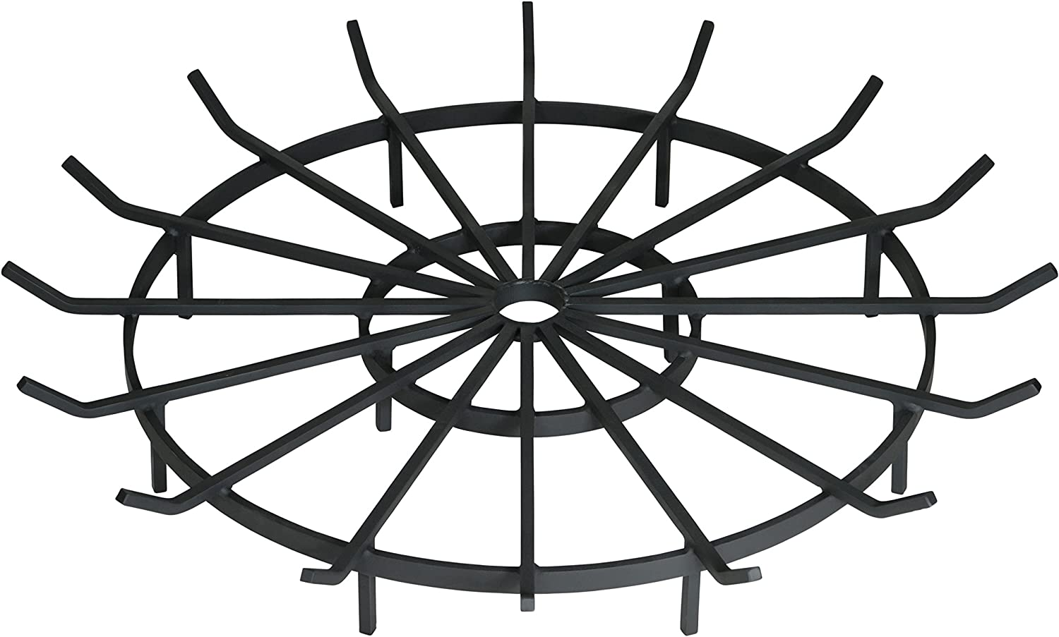 SteelFreak Wagon Wheel Firewood Grate for Fire Pit – Made in The USA 36 Inch