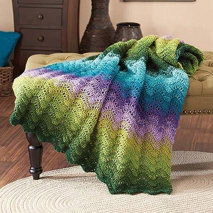 Herrschners® Floral Enchantment Throw Crochet Afghan Kit