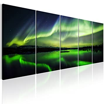 murando Bilder Polarlicht 200x80 cm - Leinwandbilder - Fertig ...